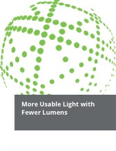 More Useable Light with Fewer Lumens